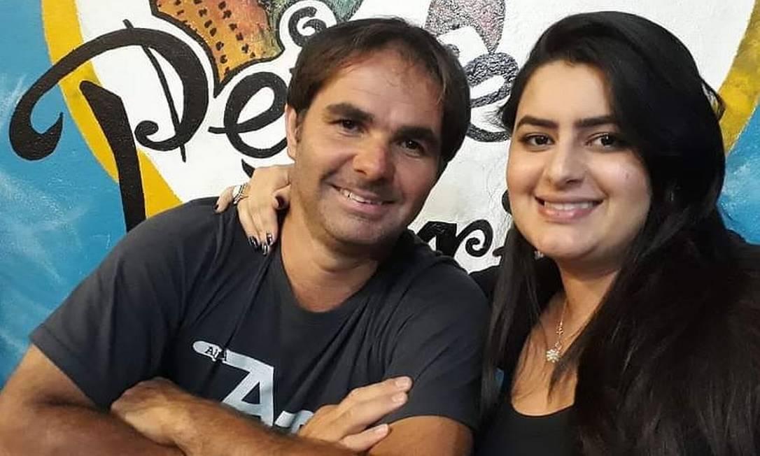 Alexandro Fonseca e a Natália da Silva Fonseca em um registro antigo: suspeito matou a ex em Teresópolis Foto: Arquivo Pessoal