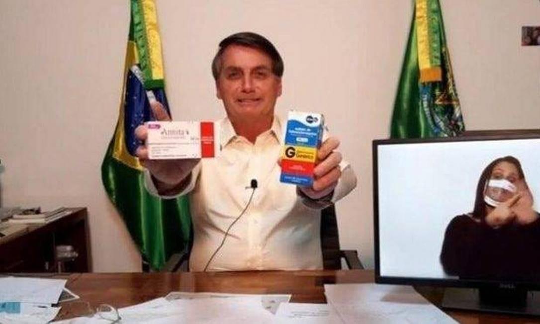Contrariando OMS, Bolsonaro associou poucos casos de Covid-19 na África à distribuição de ivermectina Foto: Reprodução