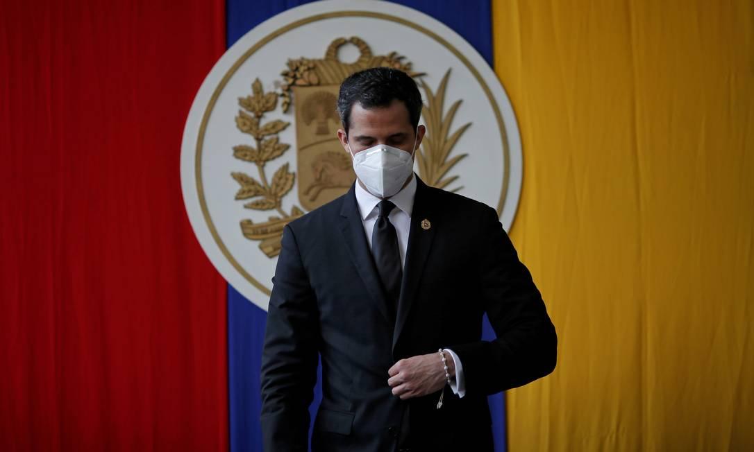 Juan Guaidó participa de sessão da Assembleia venezuelana em Caracas Foto: MANAURE QUINTERO / REUTERS/15-12-2020