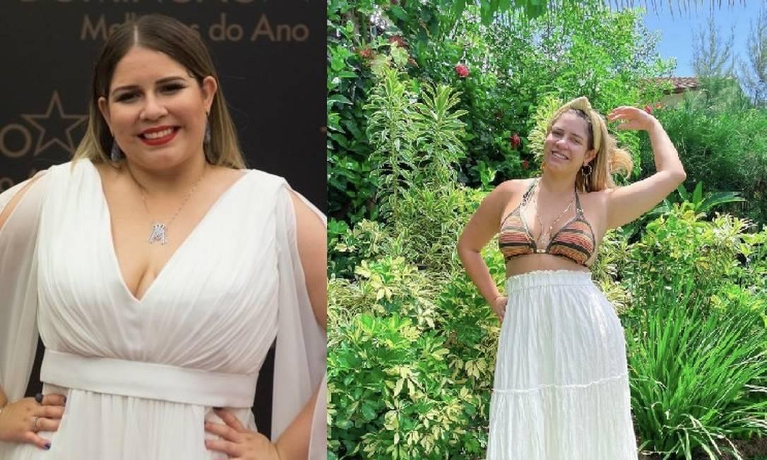 Antes e depois de Marília Mendonça Foto: Reprodução