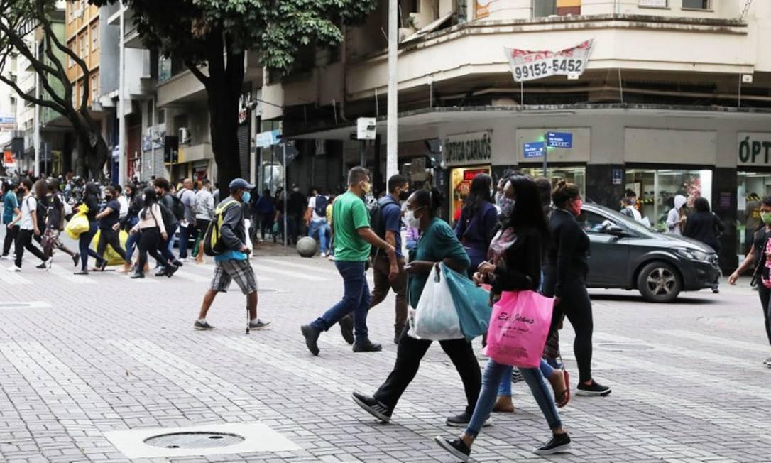 Comércio de de Belo Horizonte deverá fechar com novo decreto Foto: Adão de Souza / Agência O Globo
