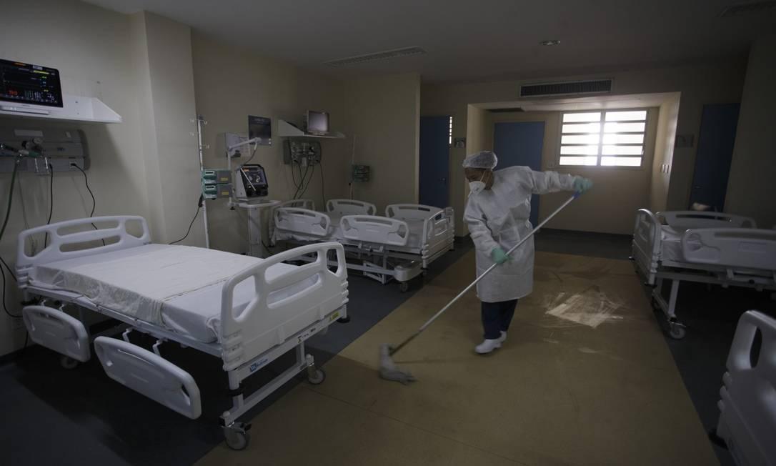 Os leitos que serão abertos no Hospital Municipal Ronaldo Gazolla: 50 novas vagas para pacientes com Covid-19 Foto: Márcia Foletto / Agência O Globo