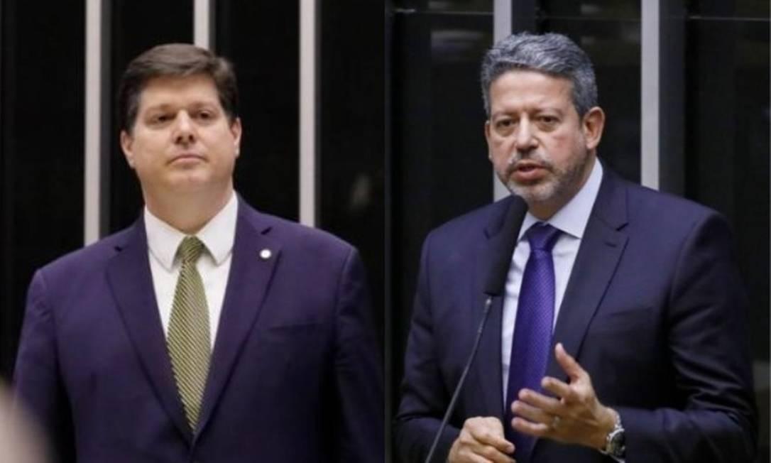 Os deputados Baleia Rossi (MDB-SP) e Arthur Lira (PP-AL) são candidatos à presidência da Câmara Foto: Arquivo O Globo