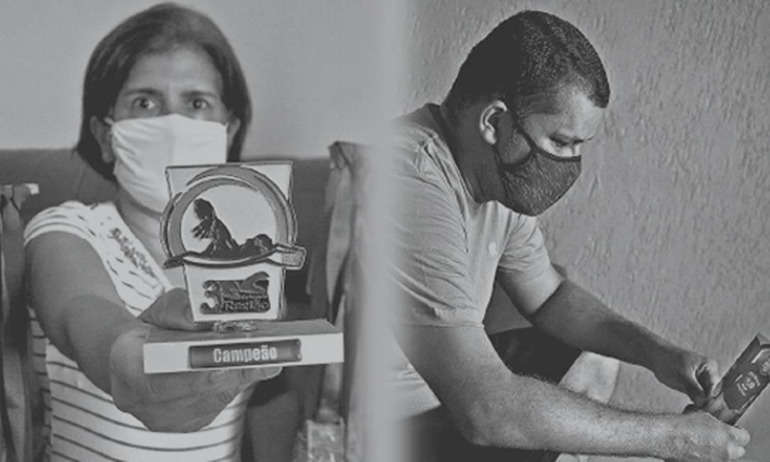 Mãe e irmão de vítimas contam como foram os últimos dias de vida de seus entes queridos. Foto: Estevão Salomão/Edilson Dantas/Montagem