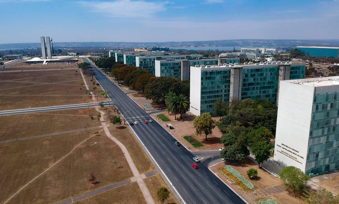 Esplanada dos Ministérios, em Brasília Foto: Pablo Jacob / Agência O Globo