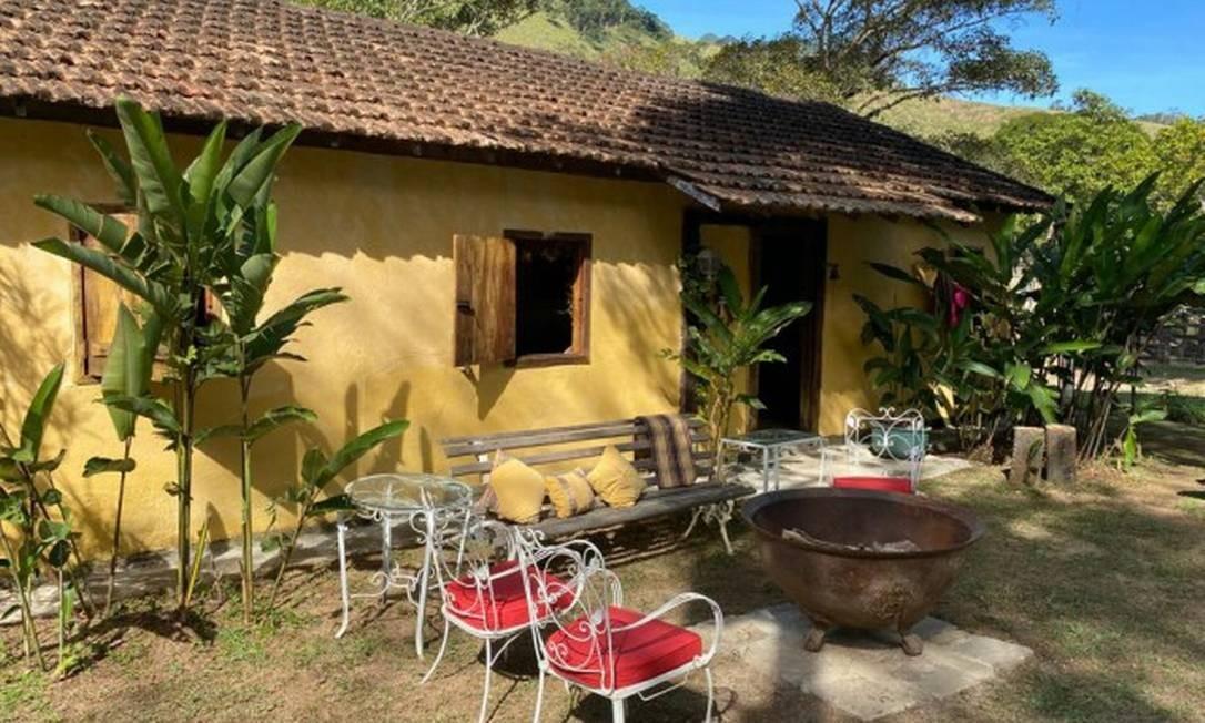 Uma antiga selaria virou uma das casinhas de hóspede da Fazenda Três Marias Foto: Divulgação