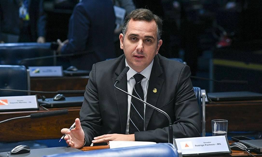 Rodrigo Pacheco é candidato à presidência do Senado pelo DEM Foto: Agência Senado 02/04/2019
