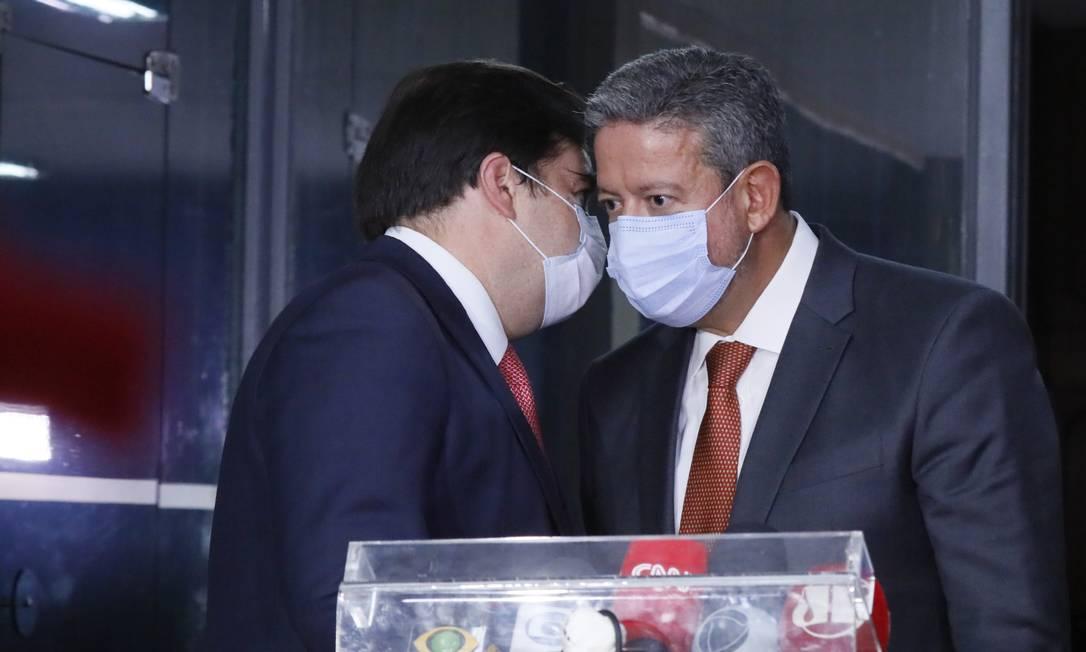 Presidente da Câmara dos Deputados, dep. Rodrigo Maia (DEM - RJ) e dep. Arthur Lira (PP - AL) Foto: Câmara dos Deputados