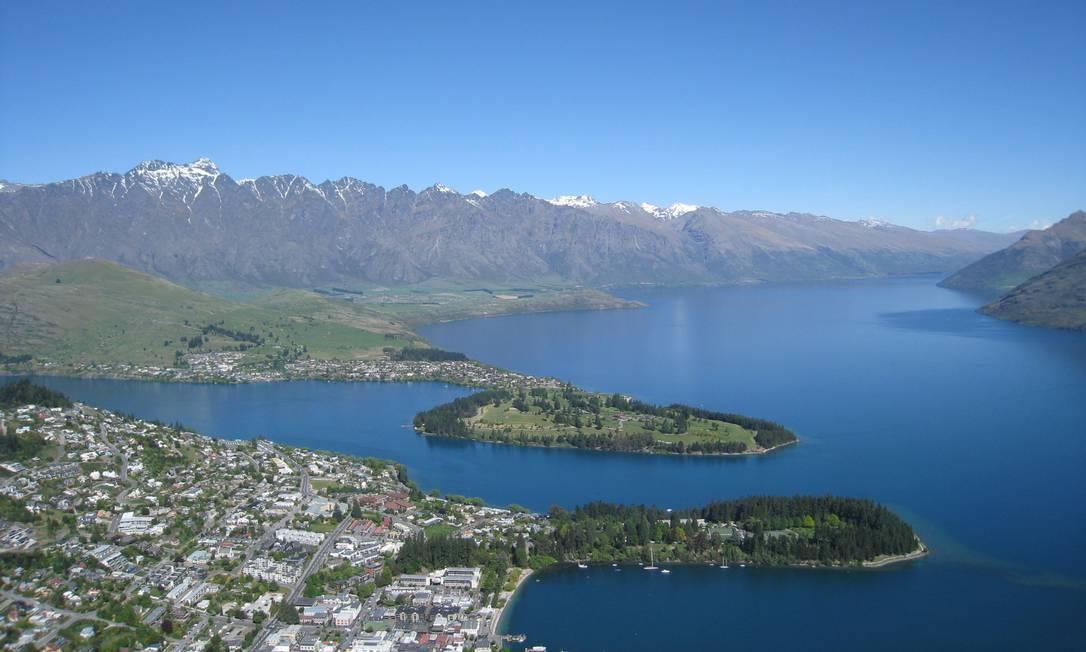 Queenstown, na Nova Zelândia: país na lista de desejos de viagem pós-pandemia Foto: Carlos Albuquerque / O GLOBO