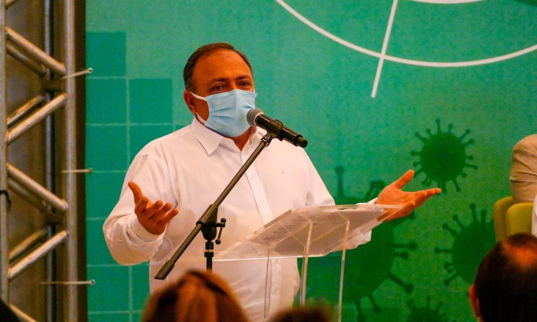 O ministro da Saúde, general Eduardo Pazuello Foto: Sandro Pereira/Fotoarena/Agência O Globo