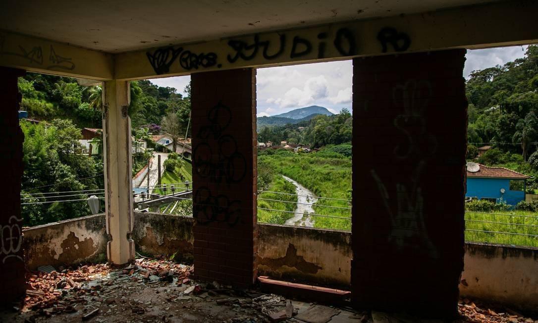 Imóvel destruído na Posse, um dos bairros mais afetados de Teresópolis Foto: Hermes de Paula