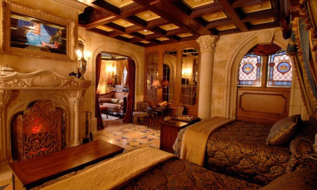 Quarto do Castelo da Cinderela Foto: Divulgação/Disney