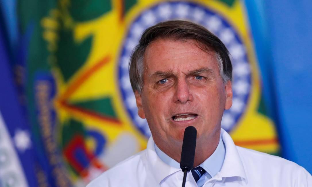 O presidente Jair Bolsonaro, durante cerimônia no Palácio do Planalto Foto: Adriano Machado/Reuters/12-01-2021