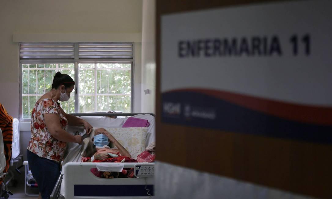 Hospital da Posse em Nova Iguaçu (RJ) sofre com atendimento a pacientes de outras cidades Foto: Cléber Júnior / Agência O Globo