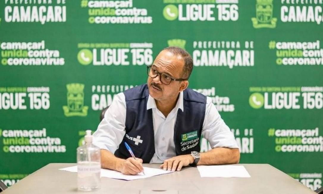 O prefeito de Camaçari, Elinaldo Araújo, afirma que queda de arrecadação pode afetar saúde pública e educação no município baiano Foto: Prefeitura de Camaçari