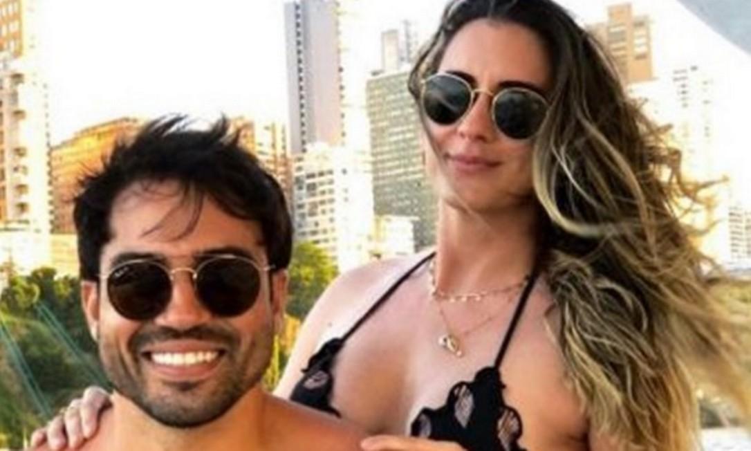 O casal Elton Campelo, de 35 anos, e Isabela Valença, de 33 anos Foto: Reprodução