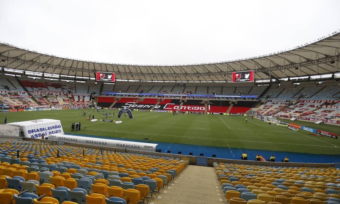 O estádio do Maracanã Foto: Marcelo Theobald / Agência O Globo / 04-10-2020