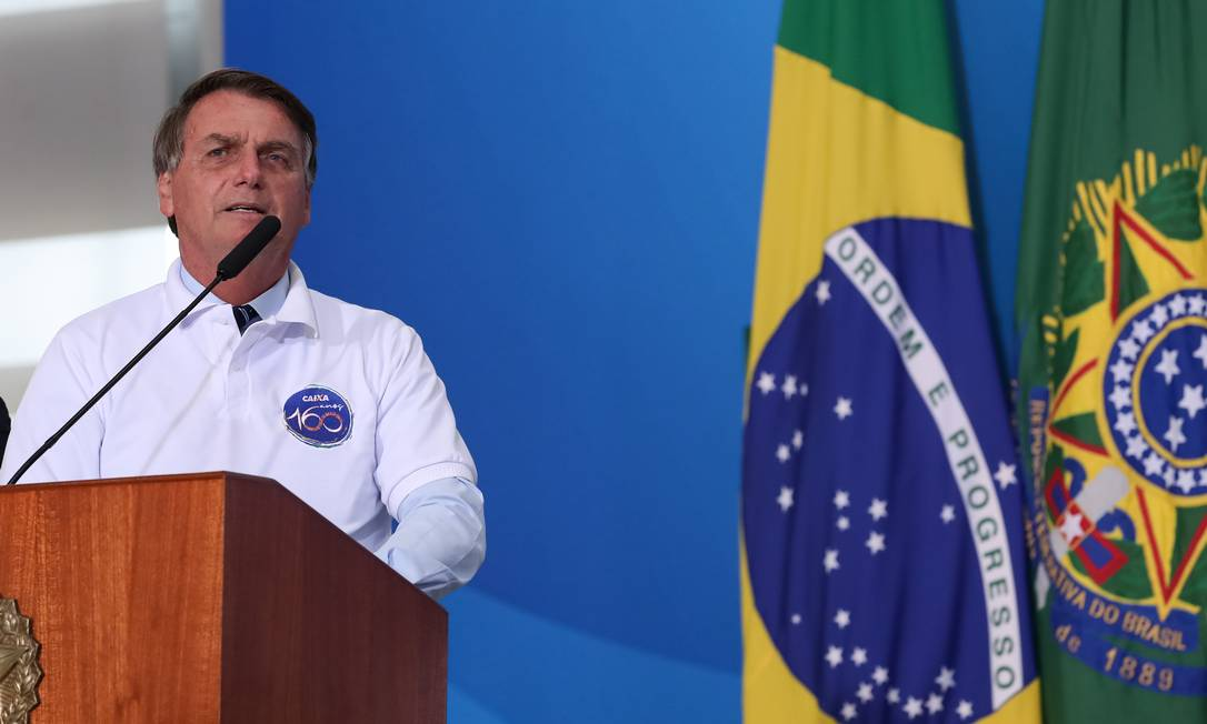 O presidente Jair Bolsonaro participa de evento no Palácio do Planalto Foto: Marcos Corrêa/Presidência/12-01-2021