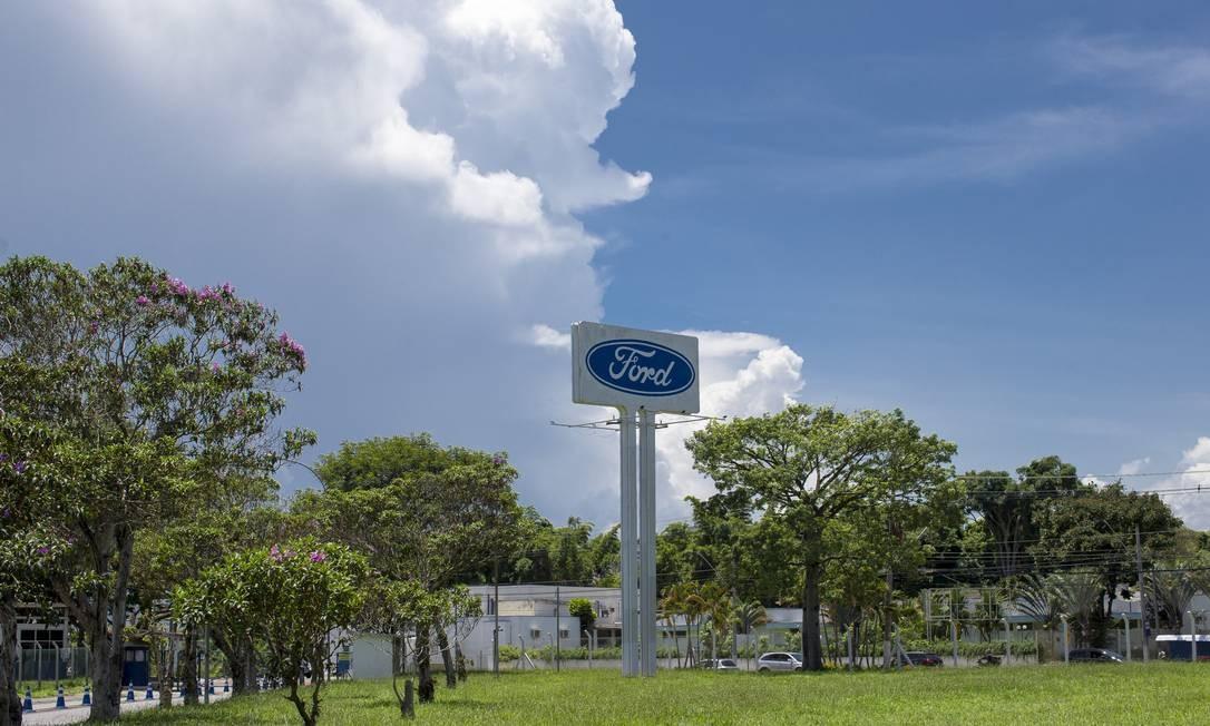 Fábrica da Ford em Taubaté ( SP ), uma das três que a empresa fecha este ano no Brasil, onde deixa de produzir Foto: Edilson Dantas/12-01-2021 / Agência O Globo