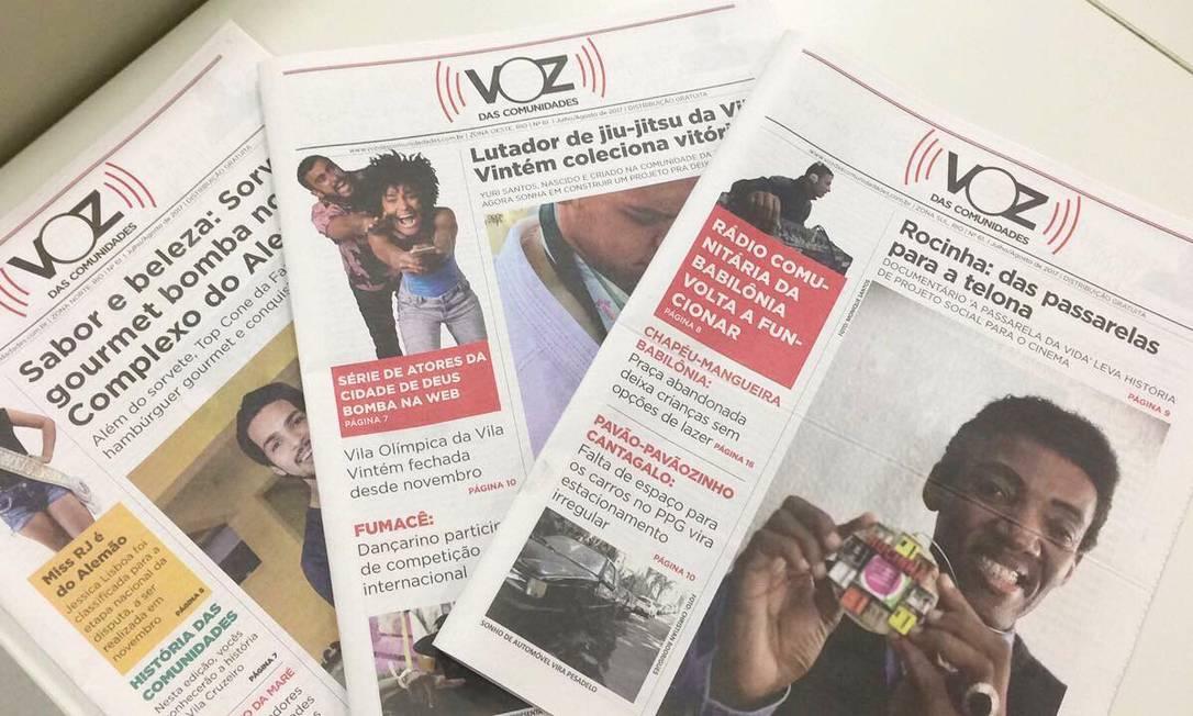 Jornal comunitário 'Voz das Comunidades' Foto: Reprodução