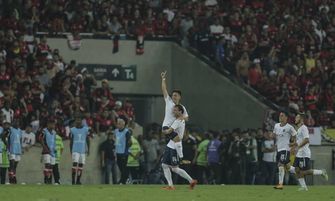 Em 2017, o Independiente venceua Sul-americana sobre o Flamengo e conquistou seu segundo título no Maracanã Foto: Alexandre Cassiano/Agência O Globo