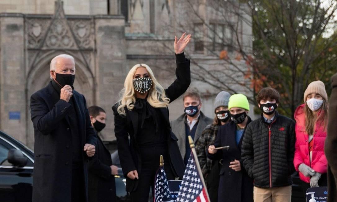 Lady Gaga cantará hino nacional na posse de Joe Biden - Jornal O Globo
