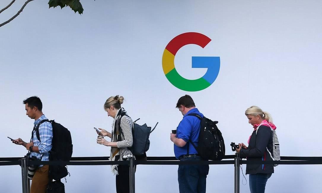 Google: bloqueio de sites de jornais na Austrália Foto: ELIJAH NOUVELAGE / AFP