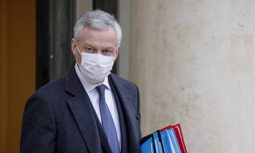 Bruno Le Maire, ministro da Economia francês, em Paris Foto: Ludovic Marin / AFP