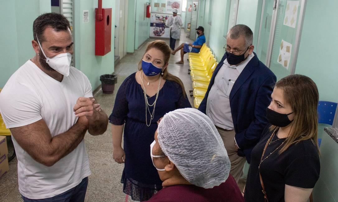 Falta de oxigênio hospitalar para atender ao aumento no número de internações de Covid em Manaus (AM) Foto: Divulgação/Prefeitura de Manaus