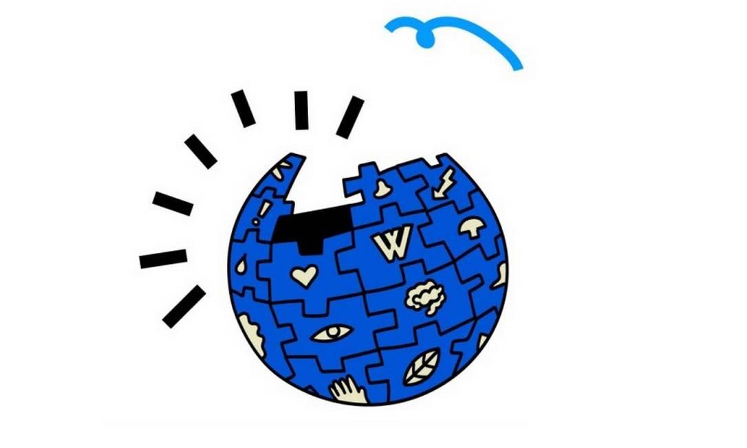 Logo dos 20 anos da Wikipédia Foto: Divulgação
