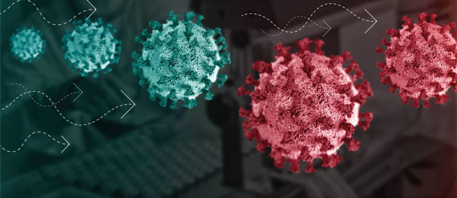 É comum que alterações no código genético ocorram em vírus. Foto: Felipe Nadaes / O Globo