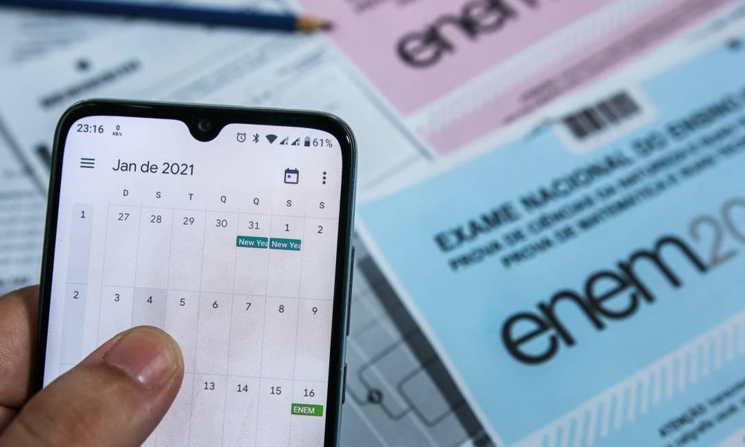 Prova do Enem está marcada para os dias 17 e 24 de janeiro Foto: Cadu Rolim / Agência O Globo