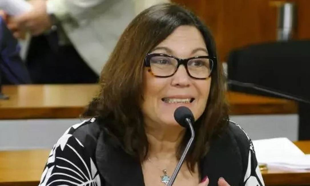 Deputada bolsonarista Bia Kicis (PSL-DF) compartilhou fake news sobre a pandemia Foto: Edilson Rodrigues/Agência Senado