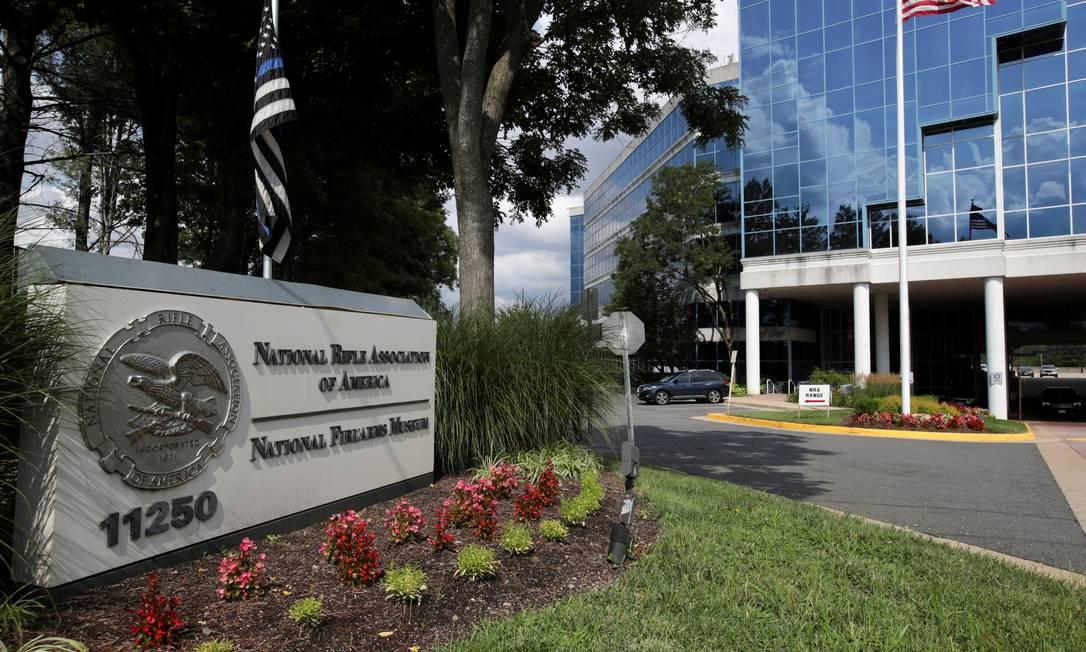 Sede física da Associação Nacional do Rifle, em Fairfax, na Virginia Foto: JONATHAN ERNST / REUTERS