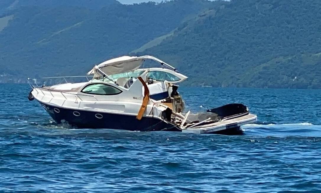 Embarcação colidiu com outra perto das ilhas de Paquetá e Calaca e houve quatro mortes Foto: Reprodução
