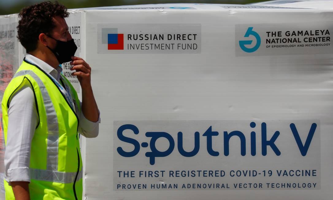 Doses da vacina Sputnik V enviadas à Argentina Foto: Agustin Marcarian / Reuters