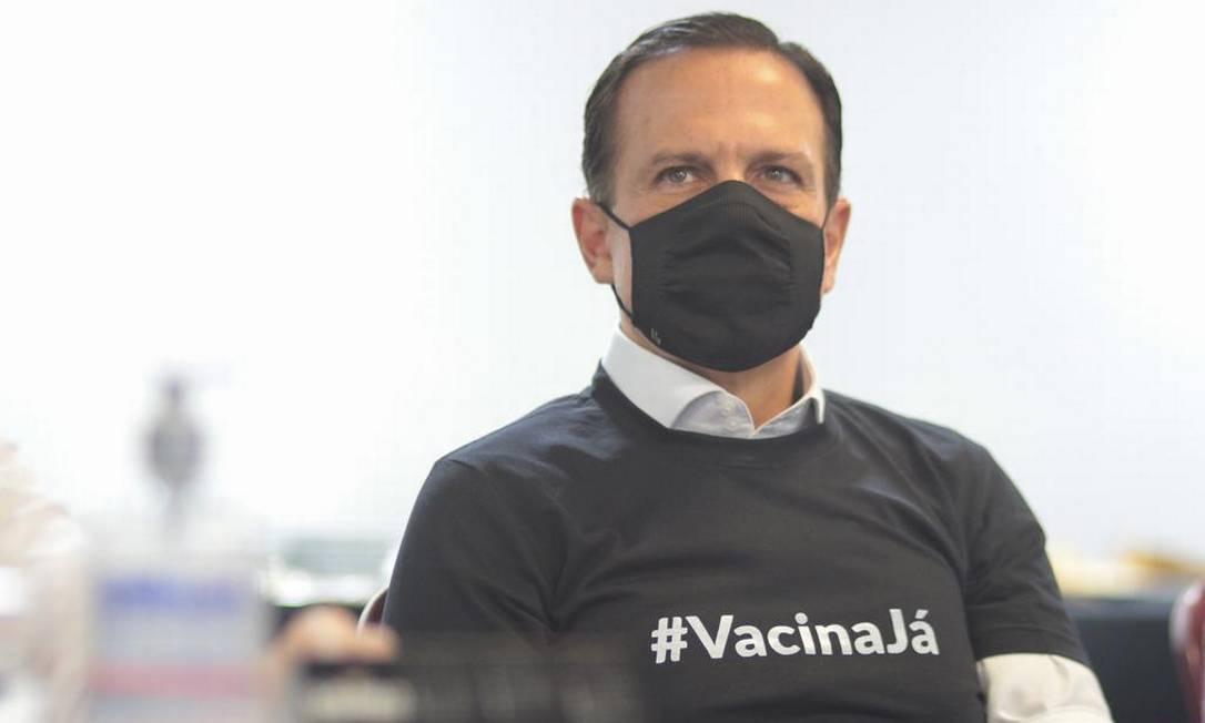 Governador João Doria no Hospital das Clínicas Foto: Divulgação / Governo de SP