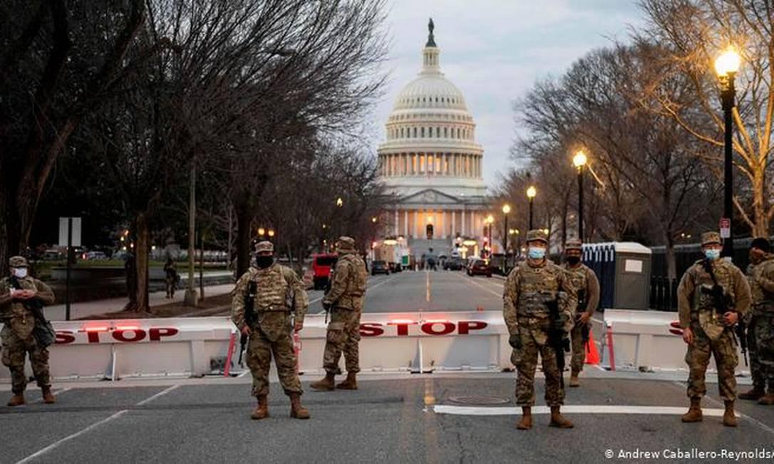Como medida de segurança, Capitólio foi isolado Foto: Andrew Caballero-Reynolds/AFP