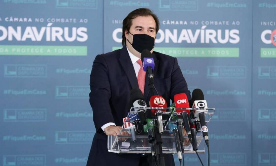 O presidente da Câmara, Rodrigo Maia Foto: Câmara dos Deputados