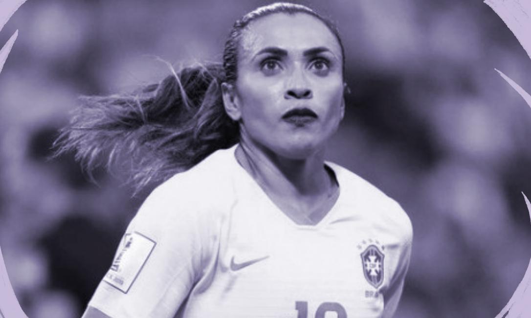 Em 2019, Marta se tornou a maior artilheira da história das Copas do Mundo e usou sua visibilidade para protestar contra a desigualdade de salários no futebol Foto: Reuters