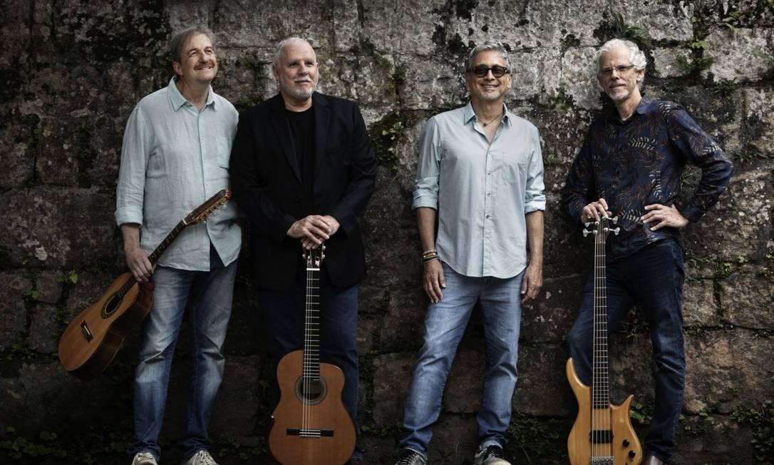 Da esquerda para direita. David Tygel, Lourenço Baeta, Zé Renato e Mauricio Maestro Foto: Leonardo Aversa / Divulgação