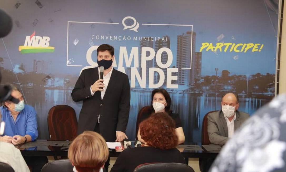 Candidatos do MDB, deputado Baleia Rossi (SP) e senadora Simone Tebet (MS) Foto: Divulgação