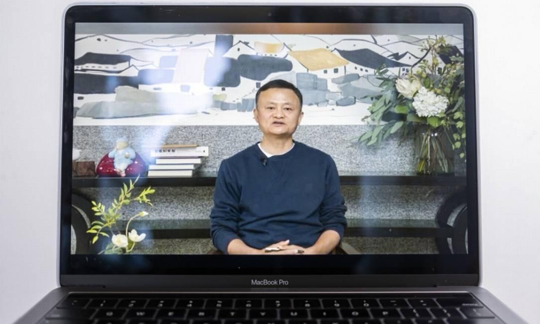 Empresário dono do AliExpress falou em vídeo a professores da área rural do país Foto: Bloomberg