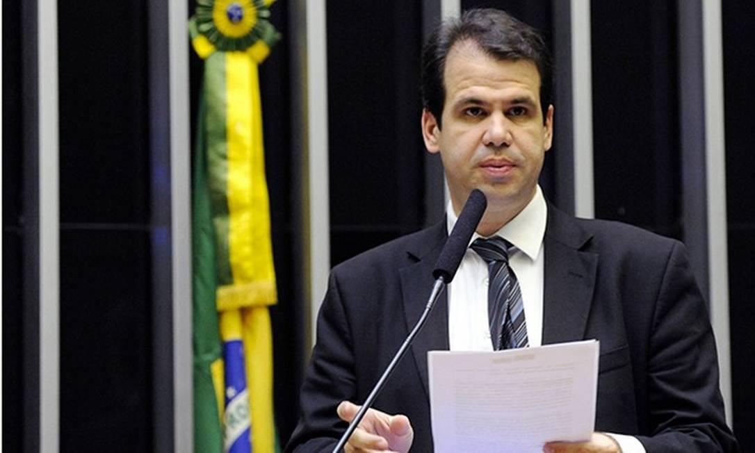 O deputado federal Áureo, do Solidariedade (RJ), no plenário da Câmara Foto: Divulgação / Câmara