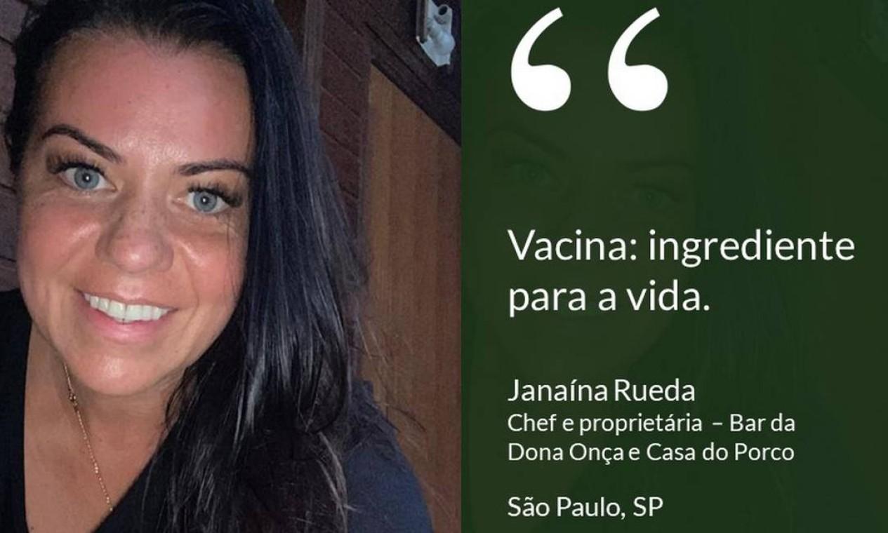 Janaina Rueda, chef e proprietária do Bar da Dona Onça e da Casa do Porto, em São Paulo. Foto: Divulgação