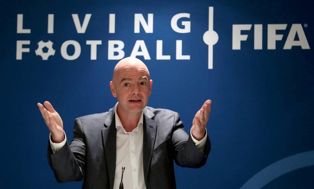 Gianni Infantino, presidente da Fifa Foto: ARND WIEGMANN / REUTERS