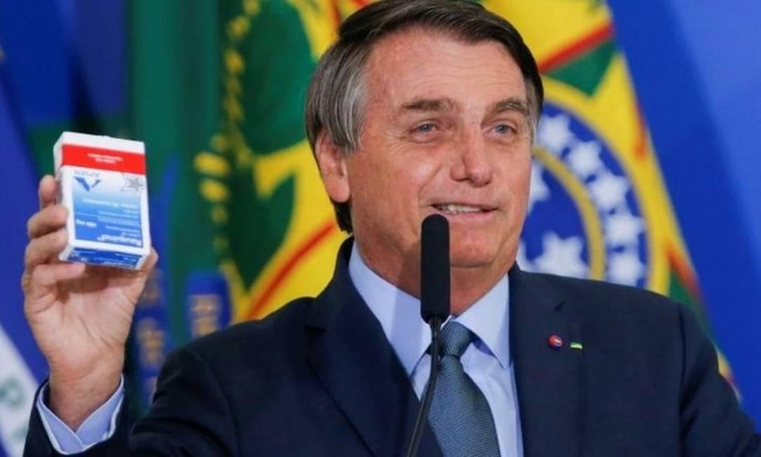 Para enfrentar a pandemia, Bolsonaro apostou em remédios milagrosos e sem comprovação científica Foto: Reuters