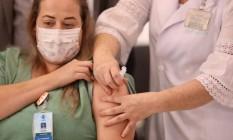 Vacinação contra a Covid-19 em São Paulo começou no domingo Foto: Divulgação/Governo do Estado de SP