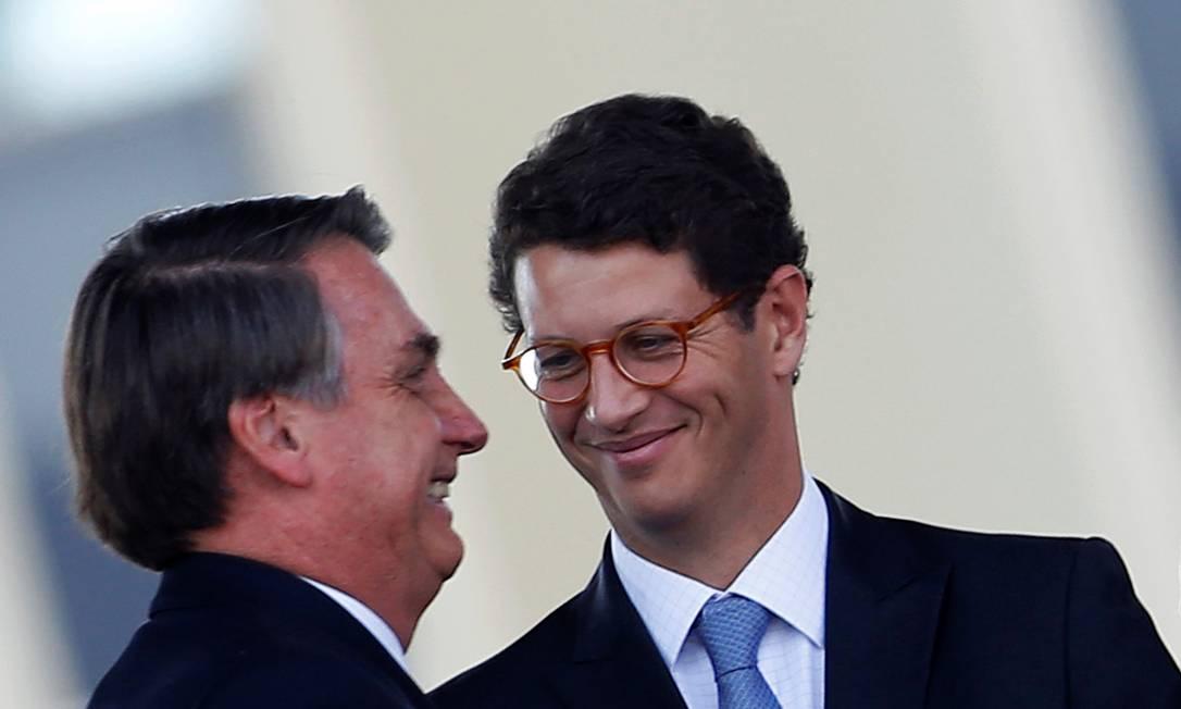 Salles e Bolsonaro já contestaram multas do Ibama e dados do Inpe sobre desmatamento Foto: ADRIANO MACHADO/Reuters/23-8-2019