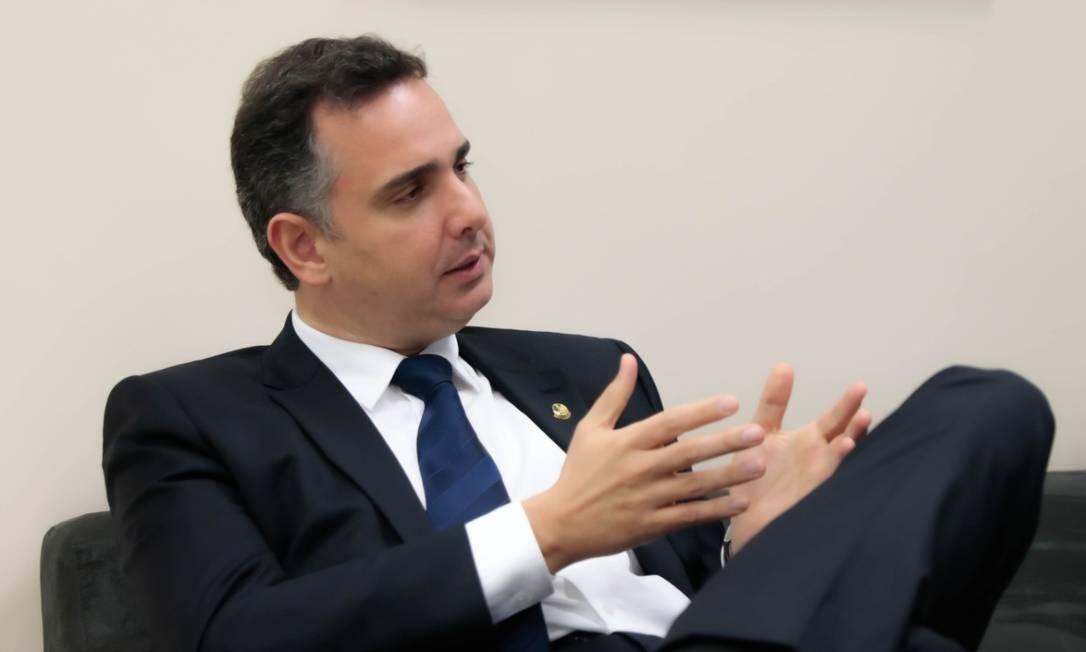 Senador Rodrigo Pacheco (DEM-MG) sobre eventual impeachment de Bolsonaro: 'Depende do fato acontecido, e o fato não aconteceu' Foto: Sidney Lins Jr./Divulgação